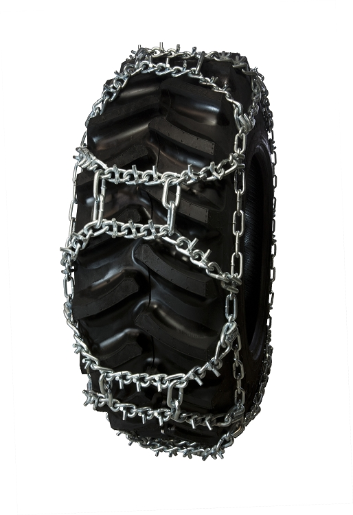 TireChain.com 17.5-24 17.5 24 Duo Grip Tractor Tire Chains Set of 2
